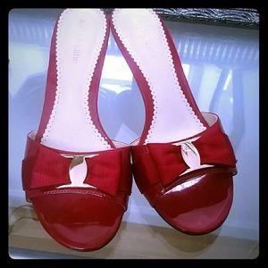 Red dress sandals
